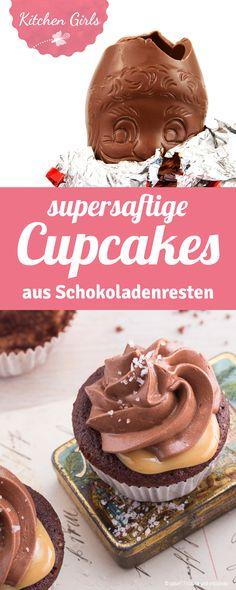 mit diesem rezept macht ihr super schokoladige saftige cupcakes aus schokoladenresten von weihnachten und ostern