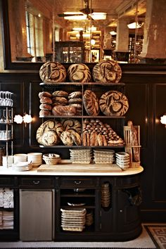 Loaves on display for sale at Balthazar's Boulangerie. The company bakes all its own bread. Source: Caprice Holdings via Bloomberg