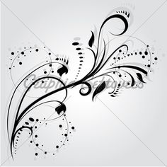 Abstract Swirl Tattoo | ... Silhouette, Element For Design, Vector Tattoo · GL Stock Images