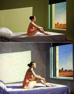 13 Edward Hopper Paintings Are Recreated As Sets For Indie Film 'Shirley - Visions of Reality.' I HAVE to see this! Shirley Visions Of Reality, Edward Hopper Paintings, Cinema, Famous Art, The Hollywood Reporter, Independent Films, Cannes Film Festival, Magazine Art, Solitude