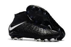 wholesale dealer e3abd 493a0 Nike Hypervenom Phantom III DF FG Soccer Shoes White Black on  www.newsoccercleats.com