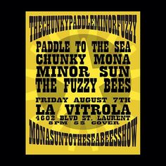 La Vitrola August 7, 2015 Paddle To The Sea, Event Posters, Bee, Company Logo, Logos, Cover, Phonograph, Honey Bees, Logo