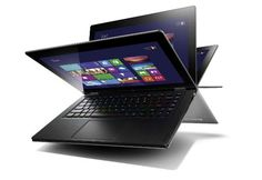 """Lenovo IdeaPad Yoga features a unique and sturdy double hinge, that allows the screen to rotate and to set up in any preferrable mode, including laptop, """"stand"""", upright """"tent"""" and tablet mode."""