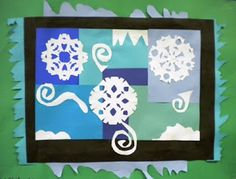 For the Love of Art: 5th Grade: Matisse Winter Collage