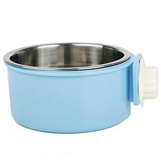 Guardians Stainless Steel Dog Bowl Removable Hanging Food Water Pets Cage Coop Cup Large Cat Puppy Birds Food Bowl with Bolt Holder -- Learn more @
