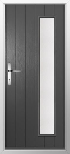 Composite door, example of one strip in Anthracite grey. High quality, secure and in your choice of colours, including almost any from the RAL color range! Check out our new extended range and design your new composite door today with Just Value Doors. Tall Cabinet Storage, Locker Storage, Composite Front Door, Ral Colours, Home Studio, Composition, Doors, Studio Ideas, House