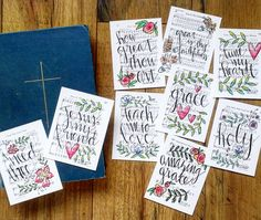 Growing Meadows Stamps and cards for Bible Journaling!  Hey, I found this really awesome Etsy listing at https://www.etsy.com/listing/255665972/journaling-cards-3x4-pocket-pages