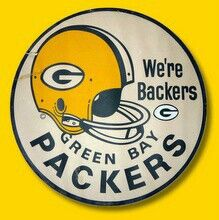We're Backers of the Green Bay Packers Green Bay Packers Players, Go Packers, Packers Football, Greenbay Packers, Football Season, Packers Baby, Mike Holmgren, Football Crafts, Football Art