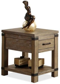 Bay Cliff Chairside Table by Riverside Furniture