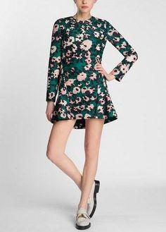 Love this abstract floral print dress | Marni