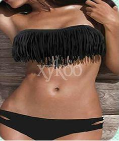 #Tasselswimwear  #blackBikini #blackSwimsuit #xykoo #blacktesselbikini