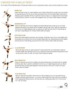 """Ballet Fitness - keep in shape . well I definitely used to do most of these in ballet so no wonder they would create a """"ballet body"""" Pilates, Cardio Barre, Barre Moves, Dancer Workout, Dancer Body Workouts, Ballet Barre Workout, Ballerina Workout, Body Exercises, Ballet Stretches"""
