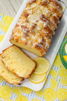 Lemon Crumb Loaf has a fresh lemon flavor crumb topping and finished off with a glaze. So delicious a wonderfully baked loaf great for dessert or breakfast! Lemon Desserts, Lemon Recipes, Sweet Desserts, Just Desserts, Bread Recipes, Sweet Recipes, Delicious Desserts, Cake Recipes, Dessert Recipes