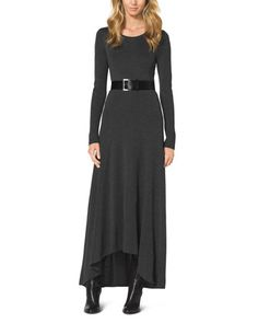 MICHAEL Michael Kors Belted Slub Elliptical Maxi Dress. Gorgeous fall maxi dress!!! Love it!!! Want it!!! Will buy it!!! :)