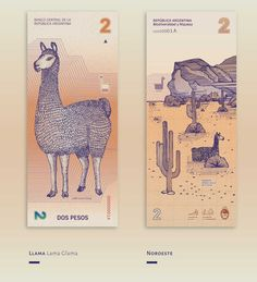 The Argentine designers Gilda Martini and Gabriela Lubiano collaborated together to imagine the future bank notes of their country. A truly beautiful fictio