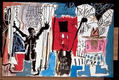 Jean-Michel Basquiat's Obnoxious Liberals. Photograph: The Eli and Edythe L Broad Collection/Estate of Jean-Michel Basquiat Jean Michel Basquiat Art, Jm Basquiat, Basquiat Prints, Basquiat Tattoo, Fondation Louis Vuitton, Basquiat Paintings, Graffiti Kunst, The Broad Museum, Pop Art