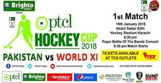 Pakistan vs World XI 1st Match Hockey Cup 2018 PTV Sports Live