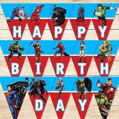 Articles similaires à Printable Superhero Banner Blue/Red // Superhero Banner / Super Hero Birthday Banner / Superhero Party / Superhero Party Favors sur Etsy Happy Birthday Superhero, Red Superhero, Superhero Party Favors, Happy 5th Birthday, Avengers Birthday, Man Birthday, Birthday Wishes, Birthday Quotes Kids, Birthday Images