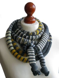 SPRING SALE 20 off was 25 Grey/Yellow/Gold SSScarf The by ifONA