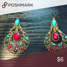 Bohemian style EARRINGS! NEW! ❤️🎁 Gorgeous colorful design earrings! Accessories