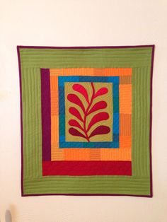 Modern Amish Hand appliqued, Quilted Wall Hanging on Etsy, $48.00