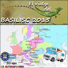 Logo del Viatge del Basilisc 2015, organitzat per EUropa en autocaravana.