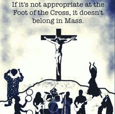 Appropriate at the foot of the cross