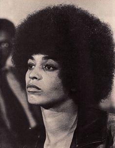 Angela Davis, looking fierce and beautiful.   What Emmy Hughes's mom might look like: from The Last King, a fantasy/romance novel by A. Yamina Collins