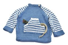 Pullover with Finger Puppet in Pocket