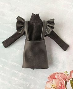 Black leather skirt sundress and black turtleneck outfit for Girl Doll Clothes, Barbie Clothes, Black Turtleneck Outfit, Girls Nail Designs, Fabric Doll Pattern, Curvy Petite Fashion, Beautiful Barbie Dolls, Black Leather Skirts, Blythe Dolls