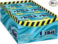 Orbit Mini Micro Pack Gum, Wintermint, 6 piece packages (Pack of 24)