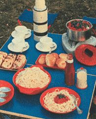 Retro Food For Picknics And Outdoor Cooking