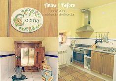 El antes y después de una cocina rústica