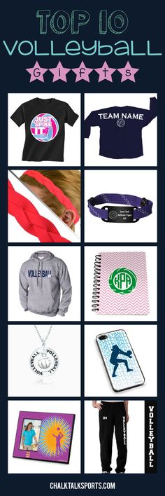 The season always seems to go by so fast, and what better way to celebrate your volleyball season than with some of our awesome gifts! We offer statement jersey tees, headbands, hooded sweatshirts, and comfortable sweatpants that volleyball girls will love! Customize our apparel and volleyball gifts with player name and player number to create the ultimate volleyball gift! Only from ChalkTalkSPORTS.com!