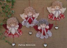 Handmade Christmas Angels + Diagram