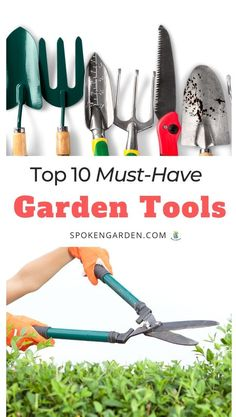 Find all the garden tools you've been missing and make your gardening tasks easier! From power tools to hand tools, this tool list is based on tools we seriously could not live without. #gardenmaintenance #gardening #gardeningtools #beginnergardener #tools #gardentools #holidaygifts #spokengarden