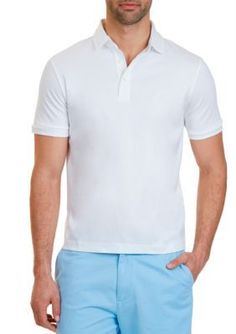 Nautica Bright White Classic Fit Polo Shirt