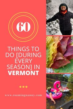 Winter, Spring, Summer, or Fall, Vermont is a 4 season destination. Here are 60 Things to do [During Every Season] in Vermont #winter #spring #summer #fall #vermont Canada Travel, Travel Usa, Stuff To Do, Things To Do, Maine Beaches, States In America, North America, Honeymoon Tips, Lake Champlain
