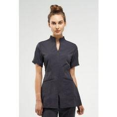 Bella Uniform by Noel Asmar. elegant, but stretchy and easy to care for ! Salon Uniform, Spa Uniform, Hotel Uniform, Scrubs Uniform, Dental Scrubs, Medical Scrubs, Staff Uniforms, Work Uniforms, Choir Uniforms