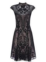 # Karen Millen: Placed floral beading dress