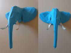 Elephant Head Papercraft PDF Pack