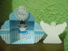 Caixa anjo e altar( caixinha de promessas) para batizado