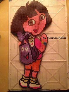 Perler Dora the Explorer made by Sunrise/Kathi