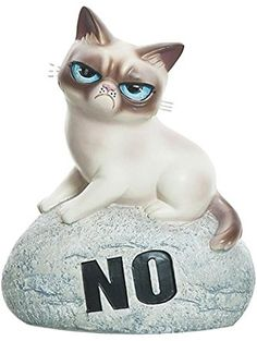 "Grumpy Cat Rock Figurine ""NO"" ❤ Ganz"