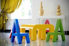 letters_cameretta_ Mobili per bambini | Letters by Alessandro di Prisco