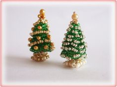 Christmas Tree beading TUTORIAL by AsszaJewelrymania on Etsy, $3.00. This listing is for the Pdf tutorial only. The finished product is not included, there are no supplies included.