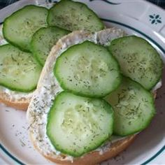 Cucumber Sandwiches =) Can't wait for the first cucumber from our garden this year!  These sandwiches are a fave of ours!