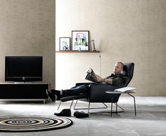 BoConcept's latest products include this Pinto chair, which caught my eye because there aren't too many stylish recliners out there. With BoConcepts clever Boconcept, Stylish Recliners, Relax, Task Lamps, Modern Furniture, Living Spaces, Armchair, House, Clever