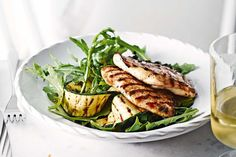 Chargrilled chicken escalopes