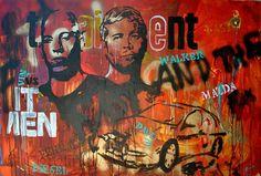 Fast (2012), 80 x 120 cm, Mixed Media auf Leinwand